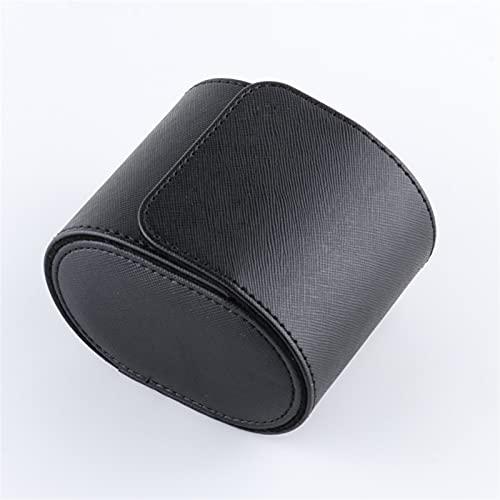 ROTAKUMA 1 Rejilla De Una Sola Caja De Reloj Vintage PU Slots De Cuero para El Soporte Flexible Soporte De Almacenamiento De Cuarzo Mecánico Hombre De Almacenamiento (Color : Black)