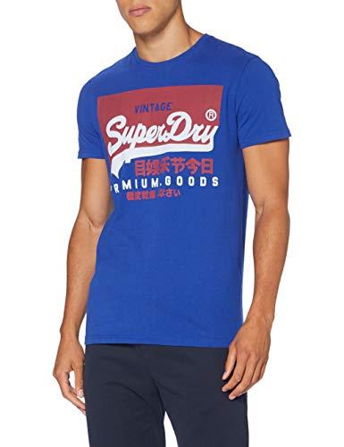 Superdry Herren VL O Tee Freizeithemd, Blau (Mazarine Blue CNS), XXX-Large