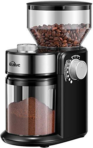 Molinillo de café eléctrico 18 tamaños de partículas, Molinillo de café 14 Tazas, Gran Capacidad 250 g, 220 W, Molinillo de usos múltiples, Pimienta, Especias, Cereales.