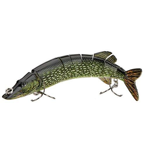 TOOGOO(R) 20cm 40g Lifelike Multi-jointed 8-segement Pike Muskie Fishing...