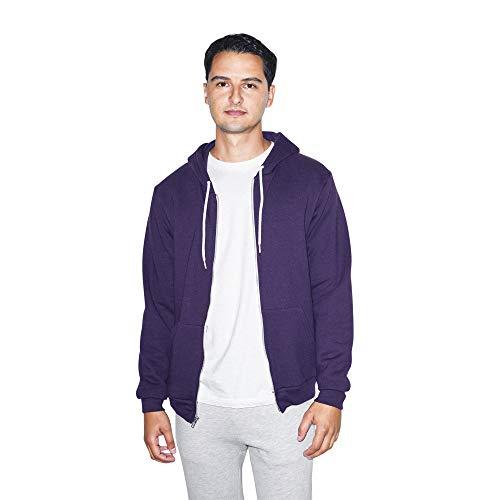 American Apparel Flex Fleece Long Sleeve Zip Hoodie Pull à Capuche, Violet impérial, XL Homme