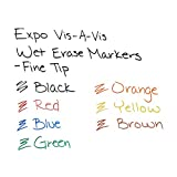 EXPO Vis-A-Vis Wet-Erase Overhead Transparency Markers, Fine Tip, 12-Count