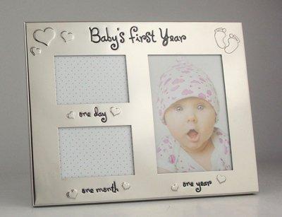 Baby's First Year Cadre photo première année de bébé Premier Jour et Premier mois Cadre photo. Idéal comme un cadeau pour nouveaux parents ou Maman et Papas pour être. enregistrer CES fois spéciales que vous ne vous Dos.