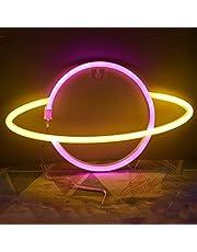 Ulalaza LED neonowy znak księżyc gwiazda serce lampka nocna do sypialni dziecięcej sztuka ścienna romantyczny prezent świąteczny urodzinowy