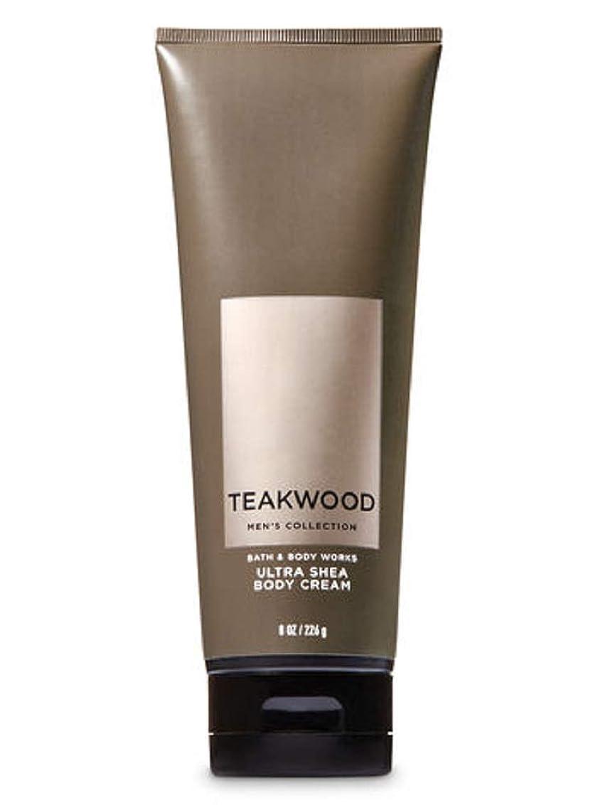 ラテン神経衰弱寄生虫【並行輸入品】Bath & Body Works Men's Ultra Shea Body Cream in TEAKWOOD 226 g