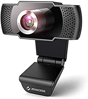 J JOYACCESS Webcam 1080P HD with Microphone,USB Desktop Laptop Webcam-Noise Reduction Mic, 105°Wide-Angle View for Streami...
