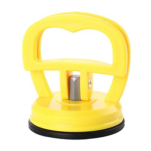 Alecony Auto Dent Abzieher,Auto Saugnapf Body Dent Abzieher Ausbau Werkzeug,Heavy Duty Suction Cups Saugheber Vakuumsauger Gummisauger (Gelb)