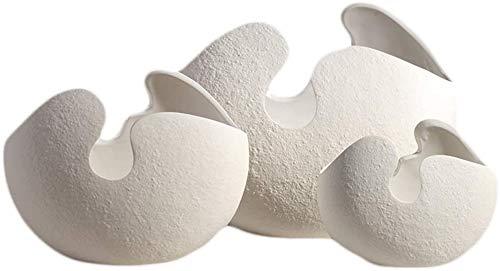 WQQLQX Statue Weiß Keramik Eiershell Hydroponische Vase Skulptur Kunst Puppe Statue Kreative Wohnzimmer Dekoration Dekoration Zubehör Handwerk Figuren Geschenke Skulpturen (Size : Medium)