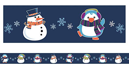Carson Dellosa Seasonal Bulletin Board Borders—6-Pack of Scalloped and Straight Border Trim, 79 Strips of Colorful Winter, Spring, Fall Decorations (225 ft) Photo #3
