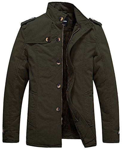 Wantdo Men's Winter Insulated Fleece Lined Field Jacket Coat US X-Large, Army Green