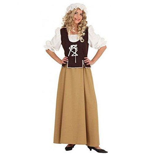 Party Discount Disfraz para Mujer Medieval de sirvienta, Talla 48Top de Calidad