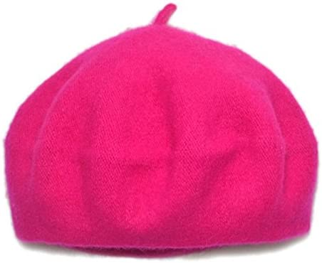 AWAYTR Children Wool French Beret Girl s Artist Hat Rose red product image