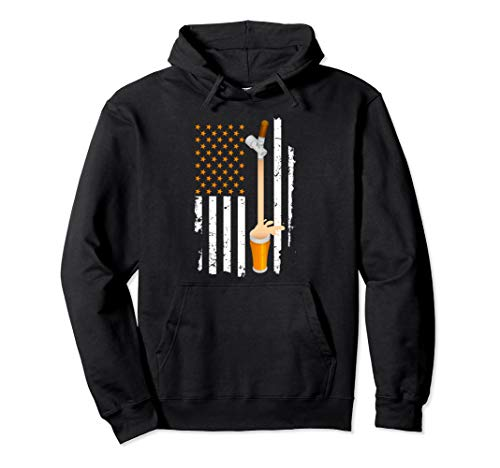 USA American Flag Craft Beer 4th of July for Brew Beer Pullover Hoodie