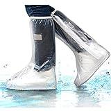 HUABEI - Funda impermeable para zapatos gruesos y antideslizantes, reutilizable, cierre de cremallera para botas de viaje, hombres, mujeres, XXL