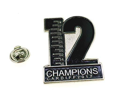 Gemelolandia | Insignia Pin Real Madrid 12 Champions | Pines Originales Para Regalar | Para las Camisas, la Ropa o para tu Mochila | Detalles Divertidos