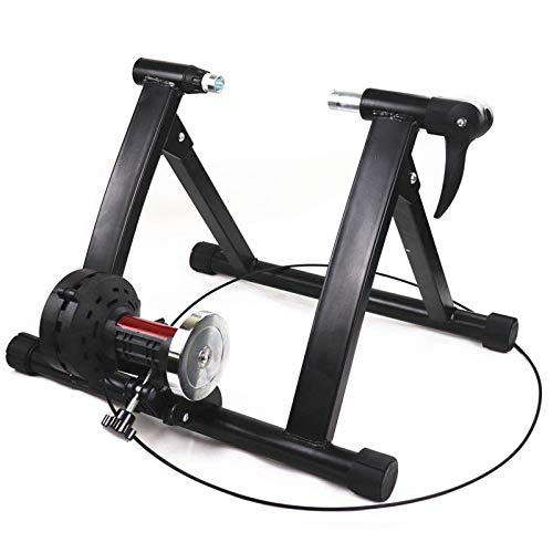 Dainty Bicycle roller trainer, foldable bicycle trainer, magnetic brake, bicycle exercise bike with 7-speed shifting for road bike and MTB 22-29 inches and 700c bicycle