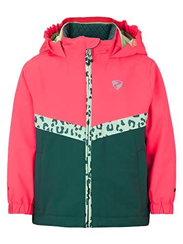 Ziener Mädchen AMAI Baby-Kinder Skijacke/Winterjacke | Wasserdicht, Winddicht, Warm, Alpine Wool, Spruce Green, 104