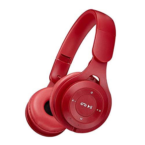 gazechimp Fones de Ouvido sem fio Bluetooth fone de Ouvido Sobre a Orelha Dobrável, a Capacidade Da Bateria 150mAh, com Graves Profundos - Vermelho