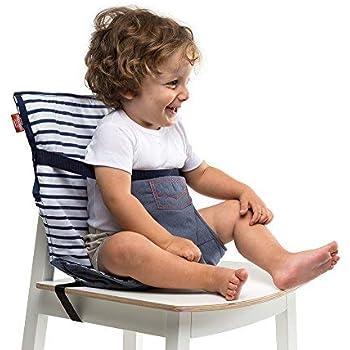Baby To Love Chaise Nomade, Chaise Haute Portable Réversible et Compacte pour Bébé (Denim Edition)