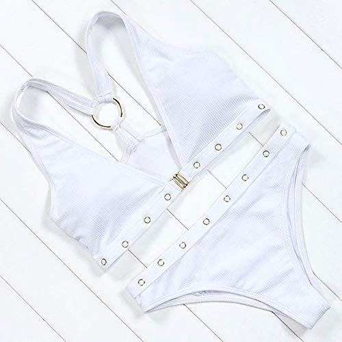 GUOZI Bikini Merk Bikini Set Effen Badpak Vrouwen Zwemkleding Push Up Zwempak Voorsluiting Beachwear Bikini