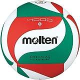 Molten V5M4000-DE - Balón de competición, Color Blanco, Verde y Rojo