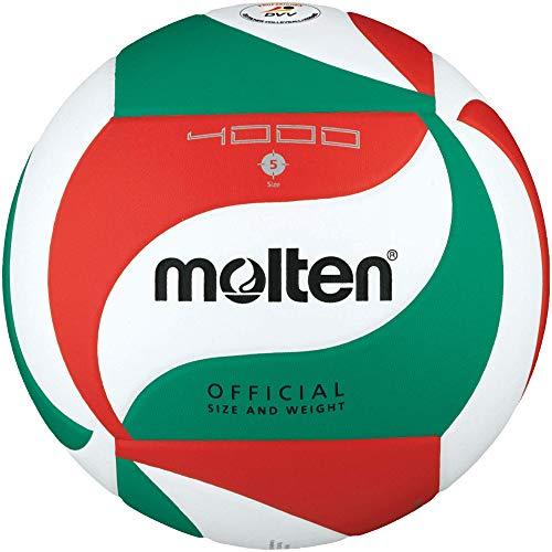 Molten V5M4000-De Palla Da Competizione, Colore: Bianco/Verde/Rosso, Dimensioni 5