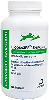 Dechra Eicosa 3FF SnipCaps Small Dogs Cats under 60 lbs (120 count) by Dechra