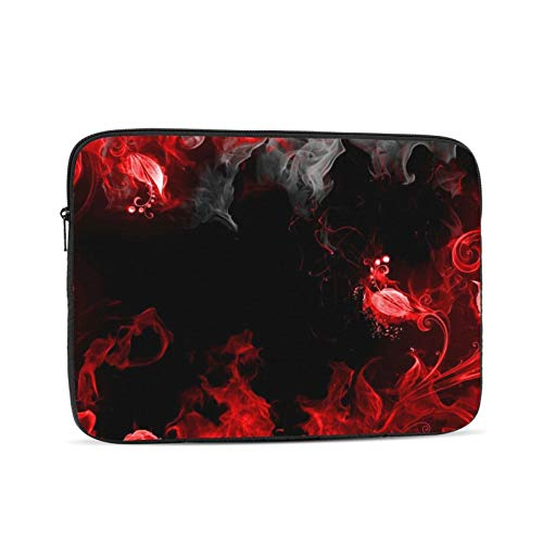 Abstraction Red Smoke Laptop Sleeve 13 inch, Shock Resistant Notebook Briefcase, Computer Protective Bag, Tablet Carrying Case for MacBook Pro/MacBook Air/Asus/Dell/Lenovo/Hp/Samsung/Sony
