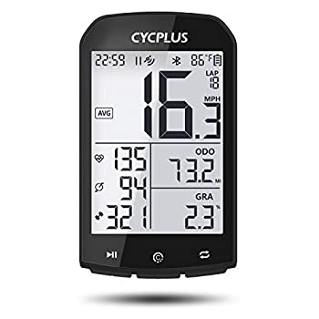 CYCPLUS GPS Bike Computer Waterproof Bicycle Speedometer and Odometer ANT+ Wireless Cycling Computer Compatible with App 2.9 Inch LCD Display with Backlight M1