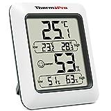 ThermoPro湿度計 デジタル温湿度計 室内温度計湿度計 おしゃれ 最高最低温湿度表示 TP50