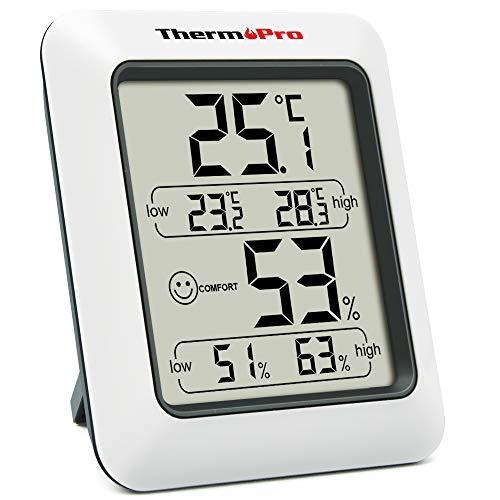 ThermoProサーモプロ 湿度計 デジタル温湿度計 室内温度計湿度計 顔マーク おしゃれ 最高最低温湿度表示 TP50