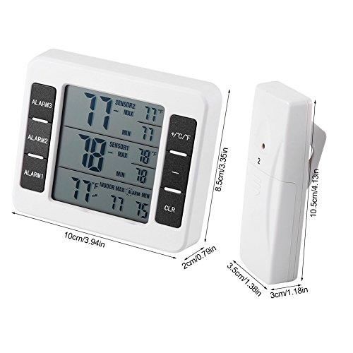 Termómetro digital del refrigerador/del congelador, termómetro al ...