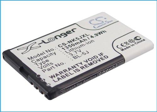 Cameron Sino Rechargeble Batería para Nokia 5800(1350mAh/4.99wh)