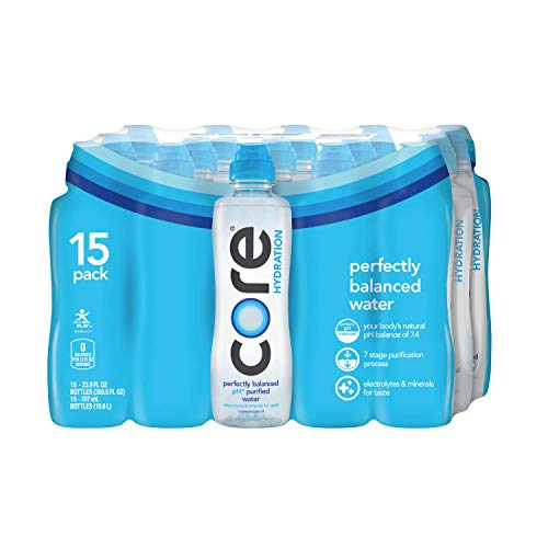 Core Hydration Perfectly Balanced 7.4 pH Water 23.7 Oz Sport Bottle (Pack of 15)
