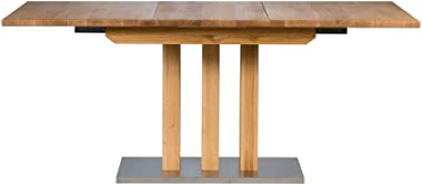 Marque Amazon -Alkove - Hayes - Table à rallonge en bois massif, Chêne sauvage