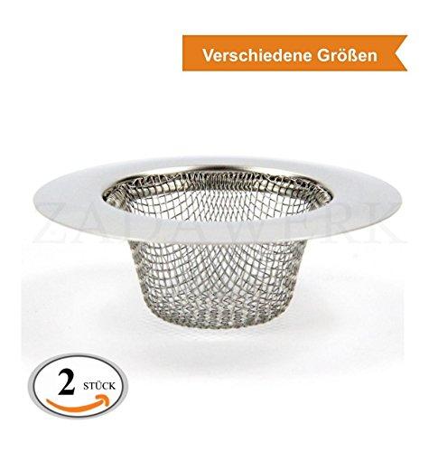 Zada WERK® afvoerzeef - fijn Ø 9 cm - 2 Stück Fijn