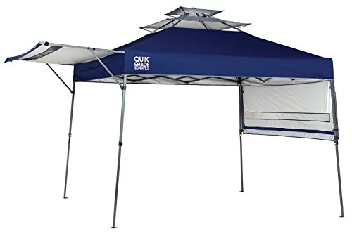 Quik Shade Summit 10 x 17-Foot Instant Canopy with Adjustable Dual Half Awnings, 170 Square Feet of Shade for 15 People - Blue