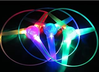 Cool4Toys Blue Pink Green LED Light up Flying Disc Toy 3 Pieces