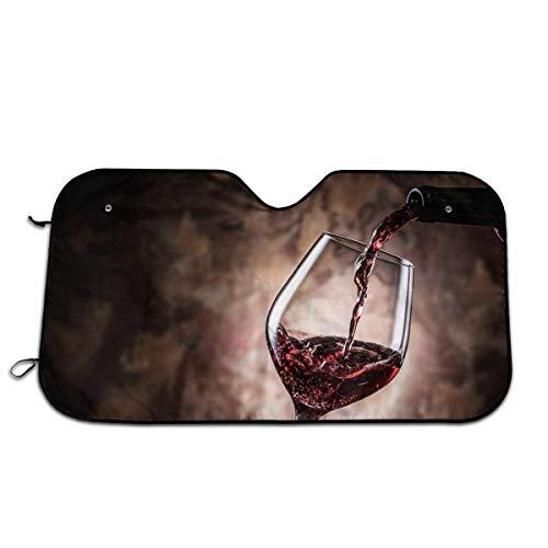 Olive Croft Área de Salpicaduras de Vino Tinto Protector para Parabrisas, Protector de Parabrisas Protección UV, Antihielo y Nieve Funda 130 X 70 cm