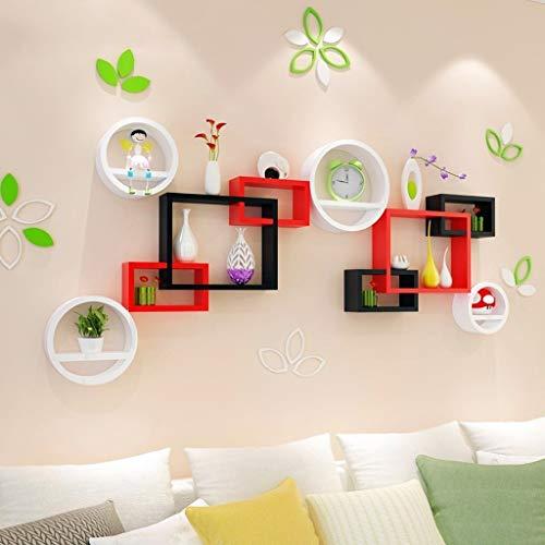 HUIYUAN Wandplank Woonkamer TV Achtergrond Wandkast Wanddecoratie Slaapkamer Muur