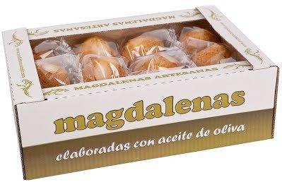 Caja con 2 Kilos Magdalenas Grandes envasadas individualmente (24 unidades)