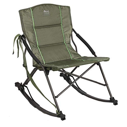 Timber Ridge Rocking Camping, Polyester, Green, 22.9 x 16 x 18.9 x 35 (W x D x Back x Chair Height) inches