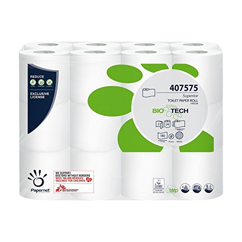Papernet Selbstauflösendes Toilettenpapier Bio Tech 2-lagig 24 Rollen für Camping u. Boot Produktname
