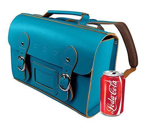 Small Leather School Satchel for Girls - Vintage Retro Style School Backpacks, Real Bonded Leather Rucksack Bag - Small Lunch Box Size