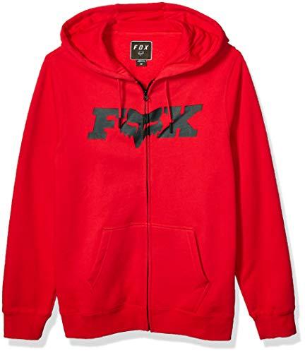 Fox Racing Men's ZIP FLEECE, Dark Red, M