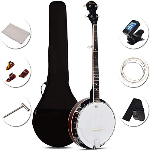 Costzon 5-String Banjo 24 Bracket with Geared 5th tuner and Mid-range...