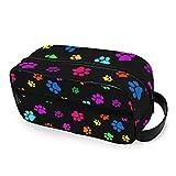 Hunihuni - Bolsa de aseo de viaje, diseño de perro y gato, diseño de huellas de perro y gato