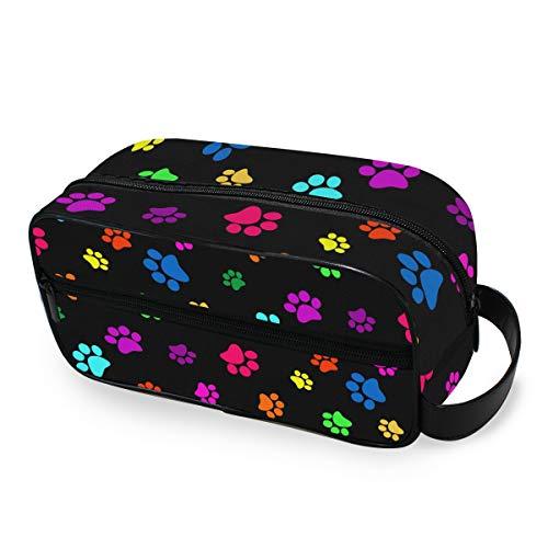 Hunihuni Bolsa aseo colorida diseño huella perro