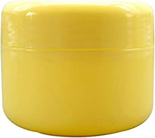 Useful 5pcs Travel Face Cream Lotion Cosmetic Containers Empty Plastic Makeup Jars Pots (20g, Yellow)