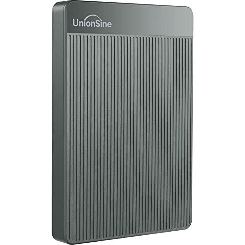 "UnionSine 2,5"" 250GB Ultra Slim Hard Disk Esterno Portatile USB3.0 SATA HDD Storage per PC, Mac, Desktop, Laptop, MacBook, Chromebook (Grigio) HD-006"
